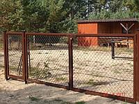 kompleksowe ogrodzenie brama wjazdowa z furtką profil 50x30x2mm wypełnione siatką
